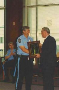 Officer Estes getting award